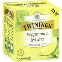 Twinings Peppermint & Lime Tea Bags 10pk