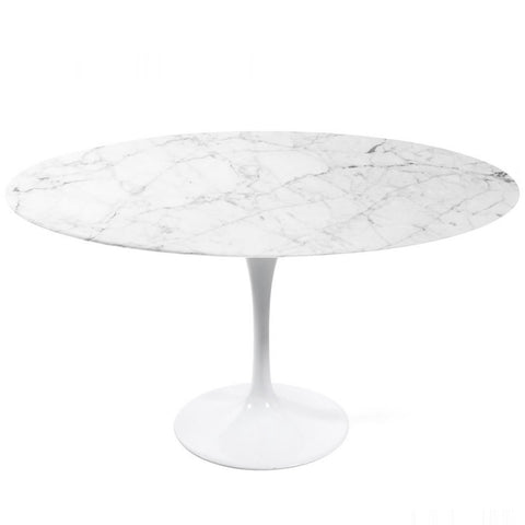 MARBLE ROUND DINING TABLE 160CM