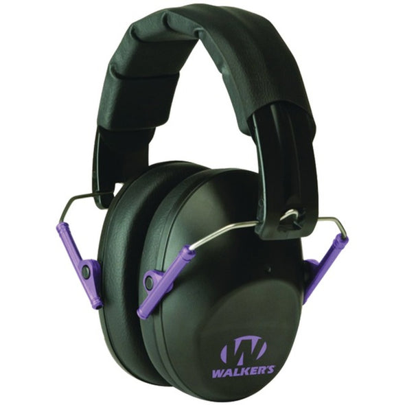 Walkers Game Ear(R) GWP-FPM1-BKPU PRO Low-Profile Folding Muff (Black/