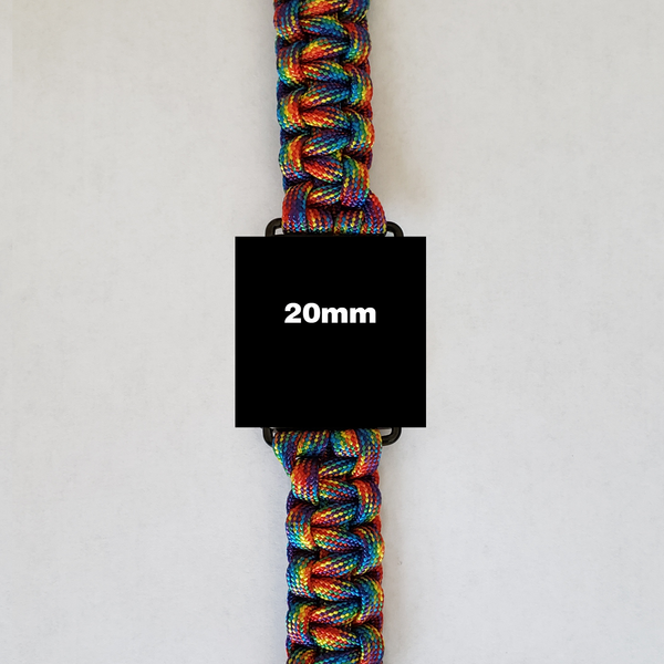 "20mm Watch Band with ""Tie-Dye"" Paracord color"