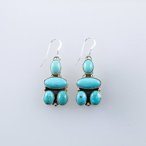 Rosyton Turquoise Cluster Native American Earrings