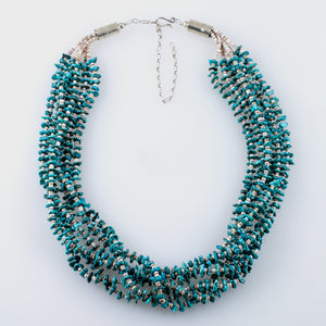 Turquoise Heishi Six Strand Necklace