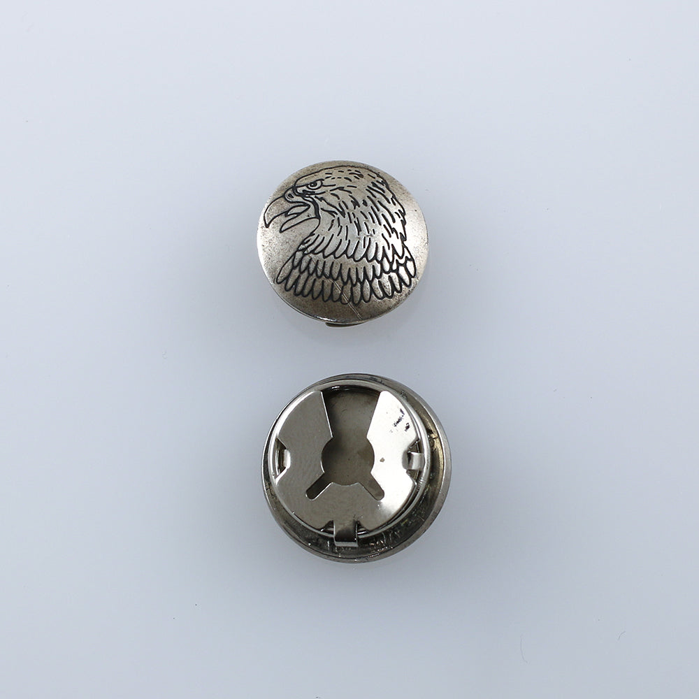 Native American Silver Southwest Button Cover