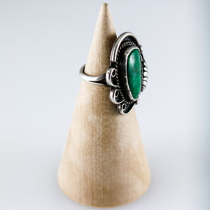 Vintage Green Turquoise Navajo Ring