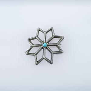 Vintage Sandcast Turquoise Pin
