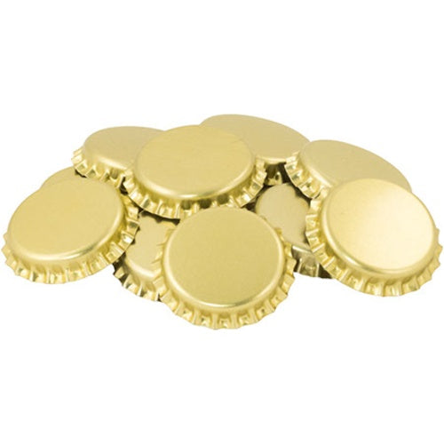 Gold Oxygen Absorbing Bottle Caps - 100 bottle caps