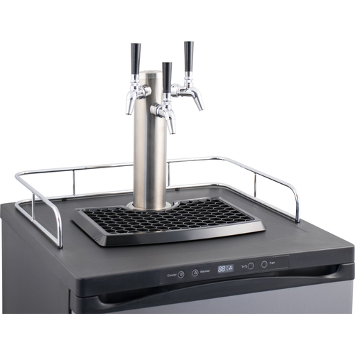 KOMOS® Kegerator with Stainless Steel Intertap Faucets