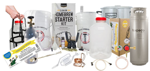 PLATINUM Exclusive 5 Gallon Beer Brewing Starter Kit With KEG KIT & Premium Beer Ingredient Kit