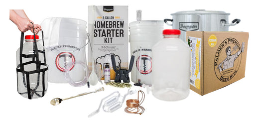 PREMIUM 5 Gallon Beer Brewing Starter Kit With Premium Beer Ingredient Kit