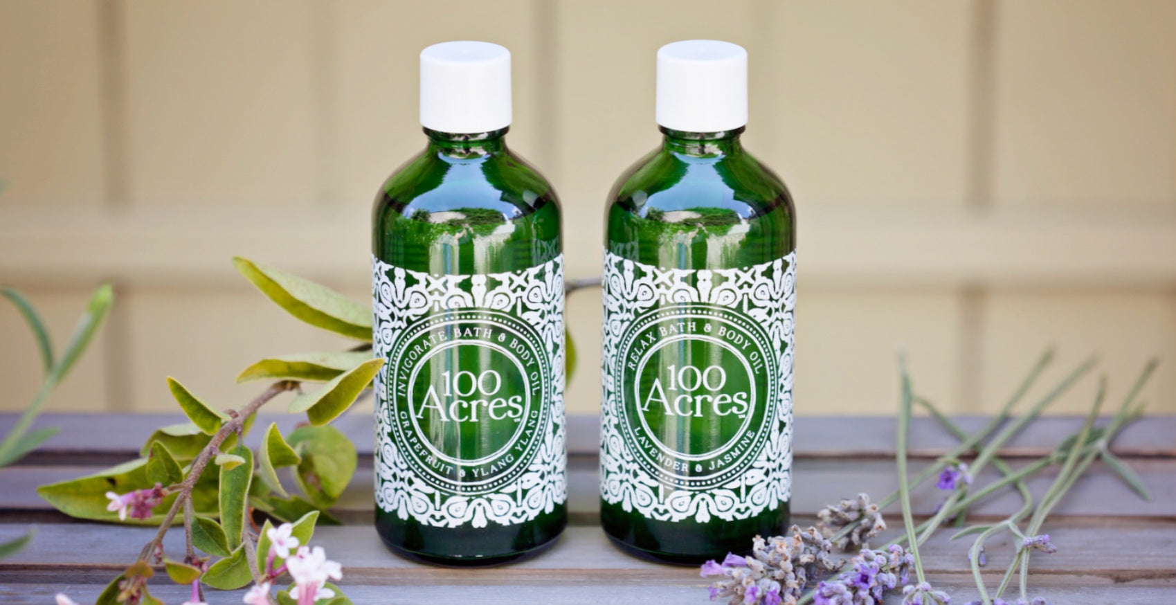 100% natural ingredients, bath & body oil - 100 Acres Apothecary
