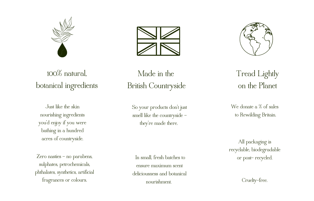 100 Acres Luxury British All 100% Natural Bath & Body Products & Gifts