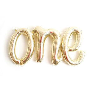 ONE Gold Foil Balloon Garland - 1st Birthday