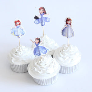 Princess Sophia Cupcake Topper Picks | Girls Party Decorations | Princess Party Favors | Princess Party Supplies |  Sophia Birthday Party