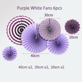 Purple Pink Girls Party Theme Paper Decoration Set| Paper Fan| Tissue Pom|Honeycomb |Girls Birthday Party Decor | Baby Shower| Teen Birthday