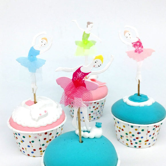 Ballerina Cupcake Topper Picks | Ballet Party Decorations | Ballerina Party Favors | Ballerina Party Theme | Ballernina Birthday Party