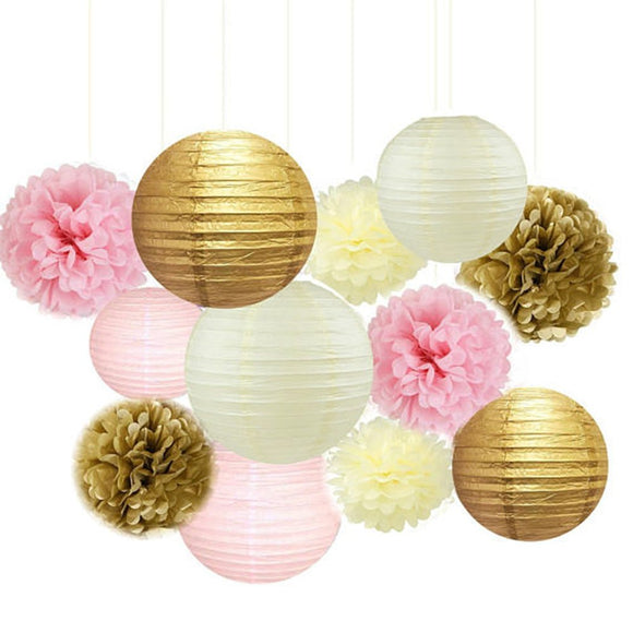 PRINCESS PARYT-Pink and Gold Party-Girls Birthday Party, Paper Lantern| Girls Baby Shower |Mom Birhtday |Bridal Shower | Pink Wedding Decor