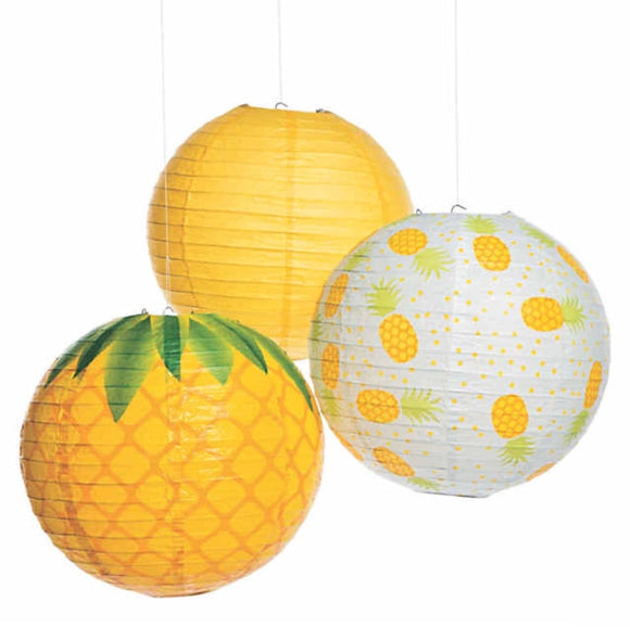 Pineapple Party Paper Lantern| Pineapple Theme Party Decor| Pineapple Lantern Hanging Decorations | Pineapple Party supplies