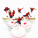 Spiderman Cupcake Topper Picks | Super Hero Party Decorations | Spiderman Party Favors | Spiderman Party Theme | Spiderman Birthday Party