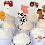 Farm Animals Cupcake Topper Picks | Farm Party Decorations | Animals Party Favors | Farm Animals Party Theme | Farm Animals Birthday Party