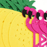 FLAMINGO PINEAPPLE Party-Luau Party Hawaiian Decorations, Hot Pink Yellow Party Set, Girls Birthday Party Decor, Pink Flamingo Banner