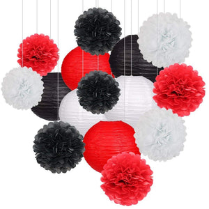VEGAS PARTY Decorations-Red, Black and White Party Decorations -Casino Party Decoration- Red Black Birthday Party, Bachelor Party