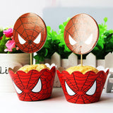 SPIDER-MAN Cupcake Toppers and Wrappers | Spider man Party Favors | Spider man Birthday Party | Spider man Cake Topper, Spider man Picks