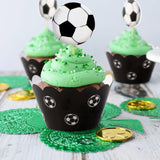 SOCCER CUPCAKE Wrapper & Topper- Soccer Sports Party, Boys Birthday Party, Soccer Cupcake Decoration, Soccer Cupcake Picks, World Cup Party