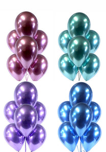 METALLIC CHROME BALLOONS-Balloons Bouquet, Birthday Balloons, Pink Balloons, Purple Balloons, Blue Balloons, Green Balloons, Latex Balloons