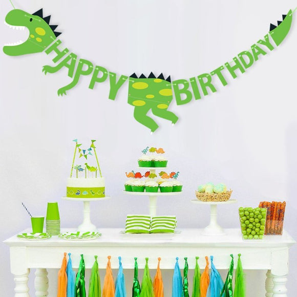 DINOSAUR Birthday Party Banner | Dinosaur Garland | Dinosaur Party Decoaration  | Jurassic Party | Dinosaur Party Favors | T-Rex Dinosaur