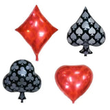 POKER FOIL BALLOONS- Casino Party, Vegas Party Decoration, Poker Card Decoration, Spades/Hearts/Clubs/Diamonds Balloon, Poker Birthday