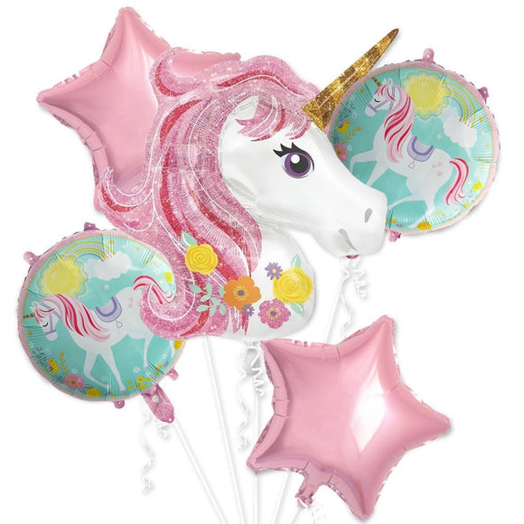 UNICORN BALLOONS Party Decoration Set | Pink Unicorn Party Theme | Unicorn Bouquet | Girls Birthday Party | Unicorn Foil Balloon | Unicorn
