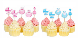 PINK BABY SHOWER Cupcake Topper, Baby Shower Picks, It's A Girl Baby Shower, Pink Baby Shower Decoration, Boy Baby Shower, Girl Baby Shower
