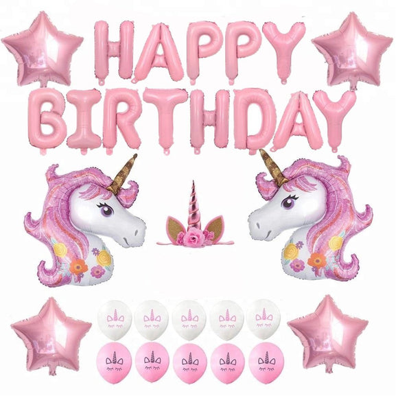 UNICORN PARTY- Pink Unicorn Balloons Party Decoration Set, Unicorn Party Theme | Unicorn Birthday Banner | Girls Birthday Party