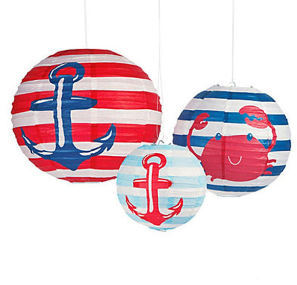 Nautical Anchor Party Paper Lantern - Sailor Theme Party Decoration