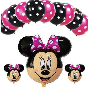 Minnie Balloon, Cartoon Foil balloon. Birthday Party Balloon |Minnie Mouse Balloon 30"