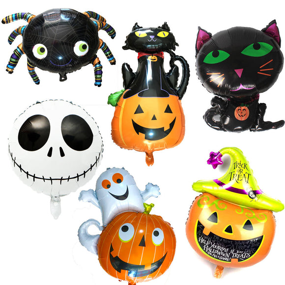 HALLOWEEN BALLOONS Party Decoration- Pumpkin Ghost Balloons, Halloween Decorations, Spide Balloons, Black Cat Balloon, Skull Balloon