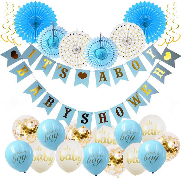 It's A Boy Baby Shower Decorations Set