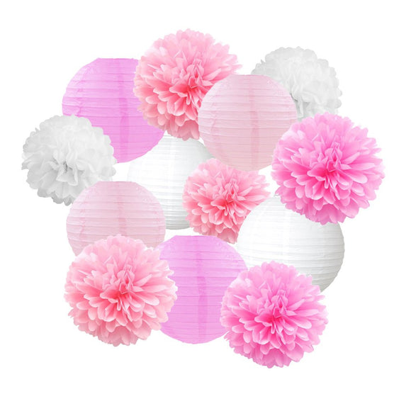 PINK BIRTHDAY Party Decoration Set-Pink Princess Birthday Party, Pink Wedding Decor, Pink Baby Shower Decorations, Girls Birthday Party