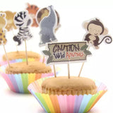 ZOO ANIMALS Cupcake Topper Picks | Safari Party Decorations | Animals Party Favors | Animals Party Theme | Zoo Animals Birthday Party