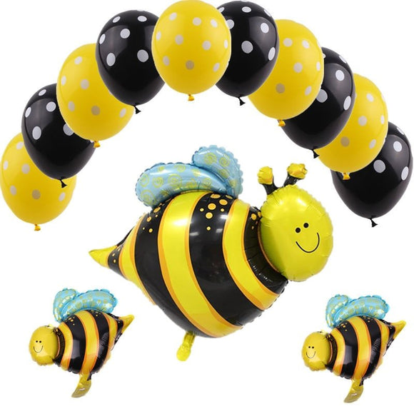 BEES BALLOONS-Bumble Bee Balloon, Yellow Jackets Balloons, Honey Bee Balloons, Bee Birthday Party, Yellow Bee Party Decoration, Yellow Baby