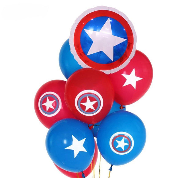 CAPTAIN AMERICA Balloons| Captain America Party Decoration | Captain America Birthday Party | Super Hero Party Balloons