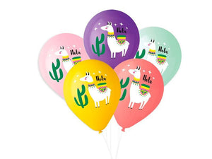 LLAMA BALLOONS- Llama Party Decor, Llama Party Theme, Llama Birthday Party, Llama Party Decorations~Hola Llama Party