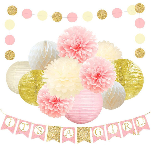 IT'S A Girl -Baby Shower Decorations for Girl - Its A Girl Banner, BABY SHOWER Banner | Gender Reveal Party Kit Decor, Pink