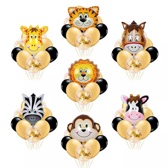 Animal Balloons- Farm Animal Balloons, Safari Animal Balloons, Jungle Animal Party Decoration, Farm Birthday Party Supplies