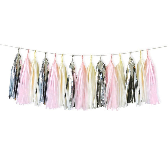 Pink, Cream & Silver Tassel Garland Kit