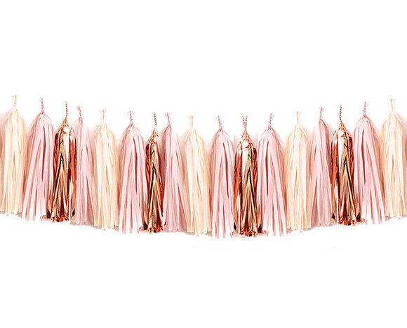 Blush Pink & Rose Gold Tassel Garland Kit