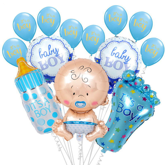 IT'S A BOY SET Balloon Bouquet- Baby Shower for Boys, Boy's Baby Shower, Gender Reveal Party, Blue Shower Balloons, Baby Foil Balloon