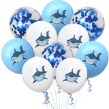 Big Blue Shark Balloons, Shark Foil Balloons, Shark Party Decoration, Boy's Animal theme Birthday Party Decoration