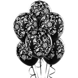 BLACK and WHITE Damask Balloons, Wedding Balloons, Floral Balloons, Damask Print Balloon, Wedding party Decoration, Anniversary Balloons