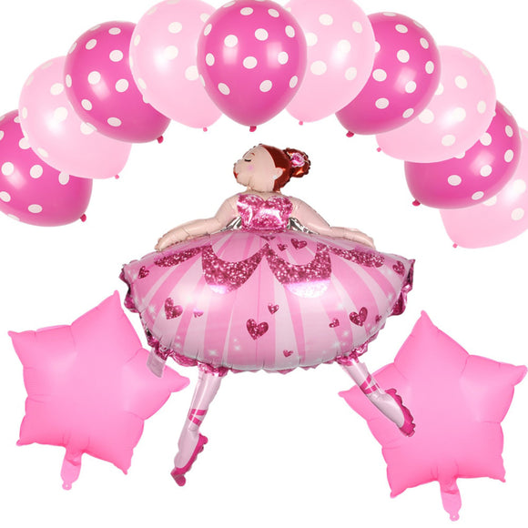 Ballerina Ballet Dancer BALLOONS - Ballet Birthday Party, Ballerina Birthday Party, Ballerina Balloon, Pink Birthday Balloons, Girls Party